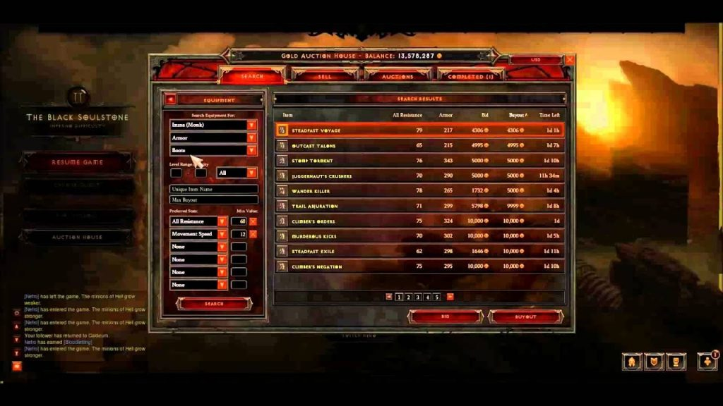 Diablo 3 bot menu by Naver Bot