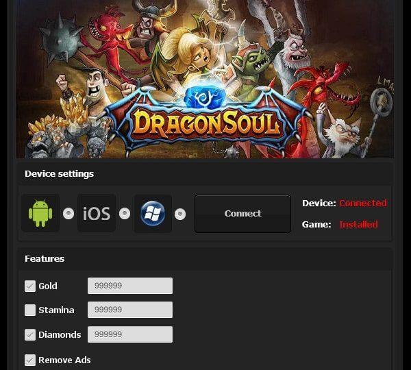 DragonSoul Online Hack mod menu