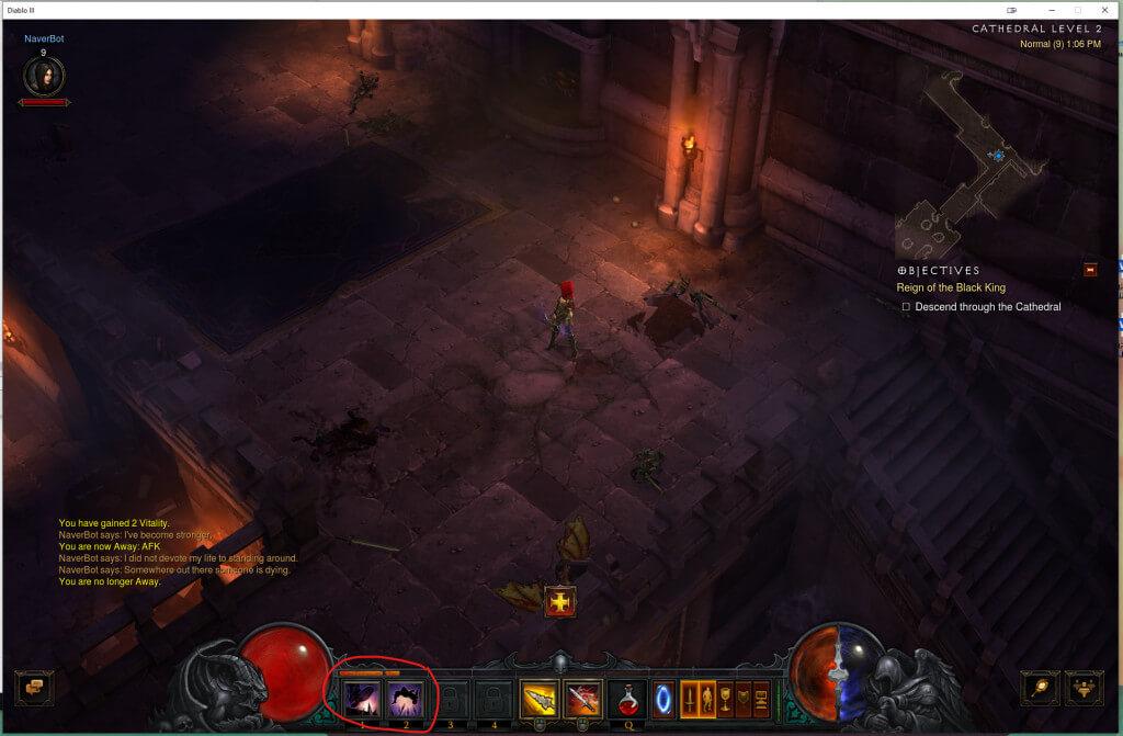 autocasting in Diablo 3